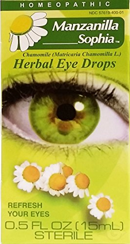 Manzanilla Sophia, Herbal Eye Drops with Chamomile, Homeopathic, Redness Reliever and Lubricant, Eye Drops, Helps You with Itchy Irritated Eyes, Hydrate Your Eyes, Dryness Relief, 0.5 Fl Oz, Bottle.