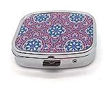 MovilCom® Pastillero diario de bolsillo organizador 2 compartimentos, pastillero organizador...