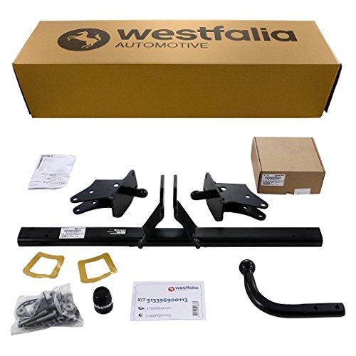 Westfalia Starre Anhängerkupplung für Mercedes A-Klasse (W176) (BJ 09/12-05/18), B-Klasse (W246) (BJ 11/11-12/18), CLA (C117) (BJ 04/13-03/19) im Set mit 13-poligem fzg.-spez. Westfalia Elektrosatz