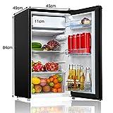 COSTWAY Kühlschrank mit Gefrierfach Standkühlschrank Gefrierschrank Kühl-Gefrier-Kombination / 91L / Schwarz - 2