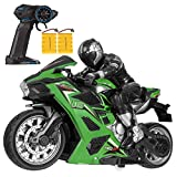 RC Motorcycle Remote Control Motorcycles - 2.4Ghz Wireless Radio Control  Motorcycle Toys High Speed Stunt Racing Motorbike for Kids Toy for Boys