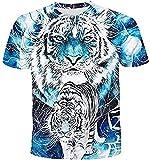 Camiseta Termica Niño Azul Camisetas Unisex para Hombre En 3D, Divertida Camiseta Estampada, Cuello Redondo, Manga Corta, Verano, Camisetas Gráficas Informales, Camiseta