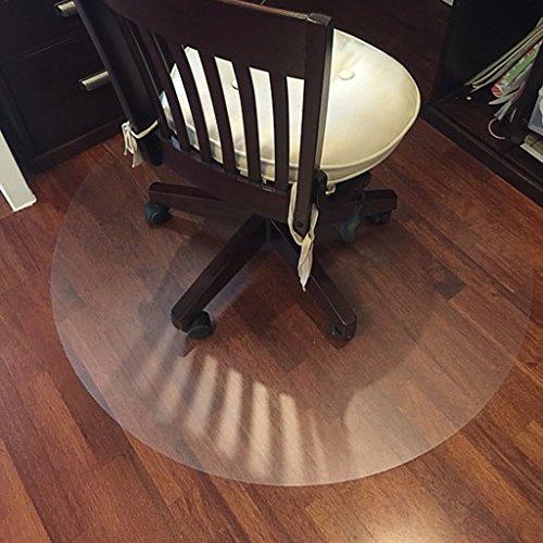 Tapis intérieur Ronde PVC tapis de sol, tapis de protection en bois tapis de chaise d'ordinateur tapis rond chambre pivotant pad anti-dérapant plaque de cristal tapis couverture ( Couleur : B , taille : ROUND-90cm )