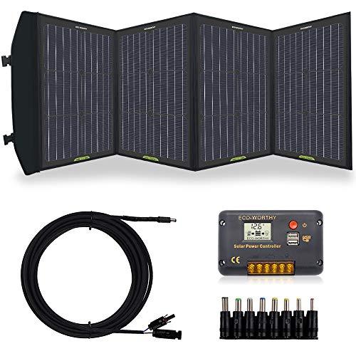 5V warmheart Kit Pannello Solare 60W 18//12 Kit di Ricarica Batteria Pannello Solare Portatile Pannelli Solari Impermeabili Pieghevoli Regolatore di Carica Batteria per Camper E Roulotte