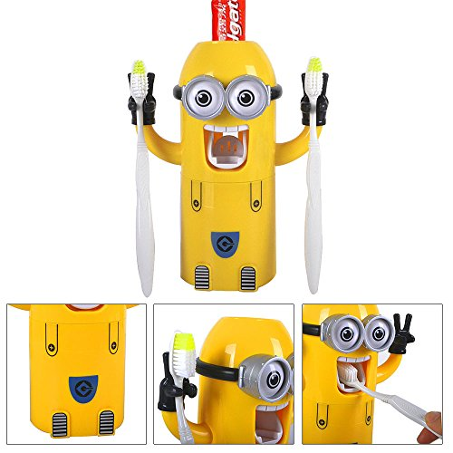 dispensador pasta de dientes minion