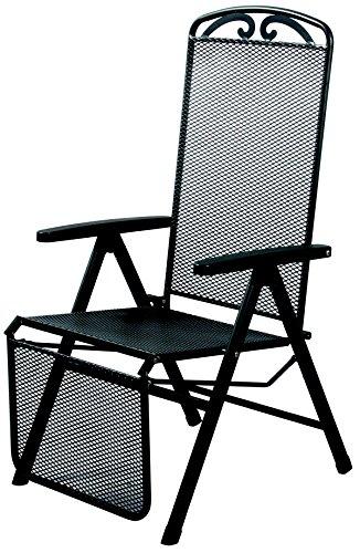 acamp Gartensessel Relaxstuhl traunstein verstellbar Stahlrohr und Streckmetall anthrazit