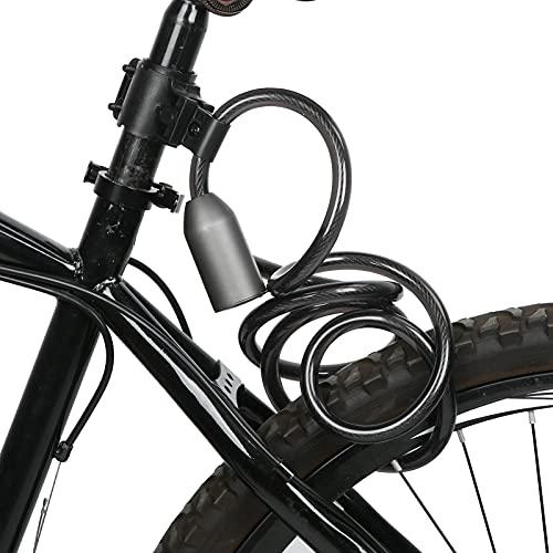 Bloqueo de Huellas Dactilares para Bicicletas, Candado con Cable, Bluetooth, Bloqueo de Huellas Dactilares, Antirrobo, Antideslizamiento para Motocicleta, Coche EléCtrico, Bicicleta Ip65
