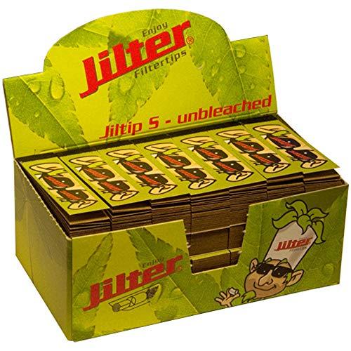 Jilter Filterblättchen Display Box Jiltip S Unbleached mit 28 x 45 Blättchen im Format 14 x 55 mm I aus Zellulose I ungebleicht