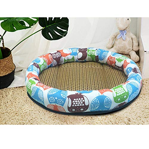 Cat Bed, Soft Comfortable Pet Nest Bed, Round Sleep Rest Bed for Cats and Dogs, Indoor Small Dog Pet Litter, Moisture-Proof and Breathable-Brown owl_M.