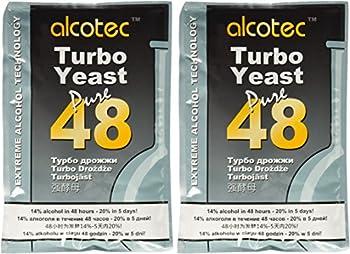 Alcotec 48-hour Turbo Yeast 135 grams  Pack of 2