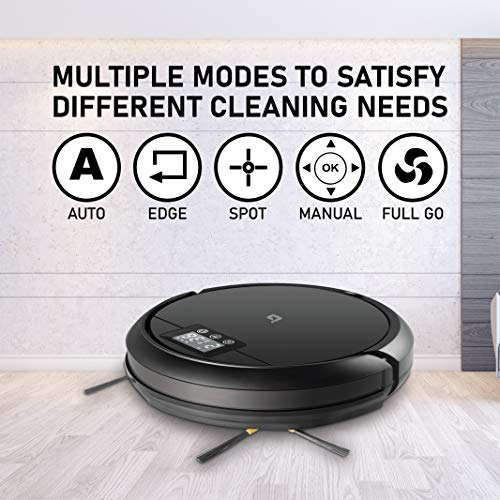 IBELL Robotic Vacuum Cleaner with Self-Charging, 360° Smart Sensor Protection, Vacuum Wet moping, Control by Alexa, Google Home, Remote and Dedicated App