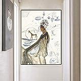 Salvador Dali (Salvador Dali) Cartel espiritual de pintura al óleo póster de hombre y animal sobre l...