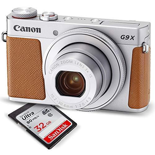 Canon PowerShot G9 X Mark II Digital Camera (Silver) W/ 32GB SD Card