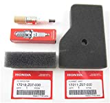 1- 17211-Z07-000 air cleaner element 1- 17218-Z07-000 outer air filter 1- 98056-55777 NGK spark plug