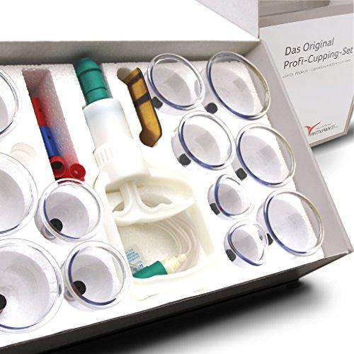 Profi Schröpfglas-Set - Schröpfgläser mit Vakuumpumpe - hochwertiges medizinisches Schröpfen mit Therapiemagneten - professionelles Schröpfglas gegen Verspannungen und Cellulite. Für Faszientherapie, Vakuum Cupping-Set