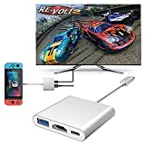 LECMARK USB Type C USB 3.1 to HDMI Adapter for Nintendo Switch Samsung Dex S9/Note 9, MacBook Pro Google Pixel,HP Spectre