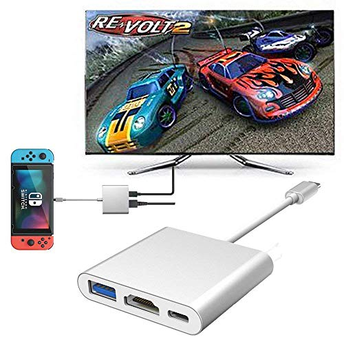 LECMARK USB Type C to HDMI Adapter for Nintendo Switch Samsung S9/Note 9, MacBook Pro Google Chromebook,HP Spectre