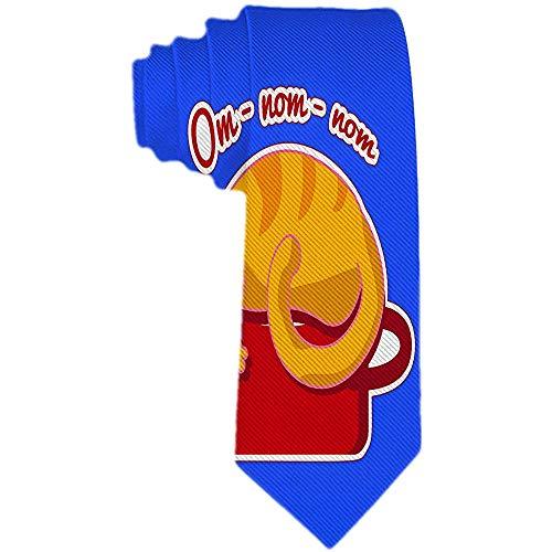 Preisvergleich Produktbild Mens Animals Pattern Necktie Klassische Krawatte Woven Jacquard Ginger Cat schläft auf einem roten Topf Krawatten