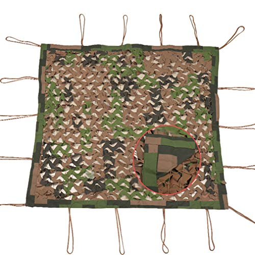 NIANXINN Woodland Camouflage Net,Hunting Shooting Camo Net Shading Net,for Hunting Anti UV Outdoor Leisure Camping Deco Bars Car - Camouflage Accessories(8x8M)