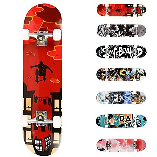 WeSkate Completo Skateboard para Principiantes, 80 x 20...