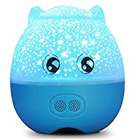 WRYBO USB充電12時間間接照明電球色誕生ギフトギフトベッドサイドランプナーシングランプナイトライトルームランプ寝室ベッドサイドウェイクアップライト星空プロジェクターナイトライトクリエイティブロマンチック