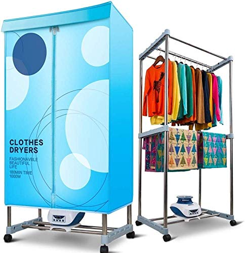YUIOLIL Warm Air Wardrobe,Electric Clothing Dryers Heater,Foldable 1200w 2tier Low Energy Consumption Wraparound Heat Flow Speed up The Drying of Clothes