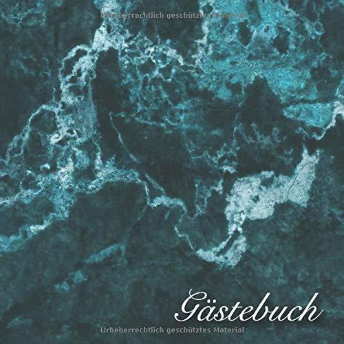Gästebuch: Blaues Granit Hochzeits Gästebuch für unsere Hochzeit - 120 Gäste