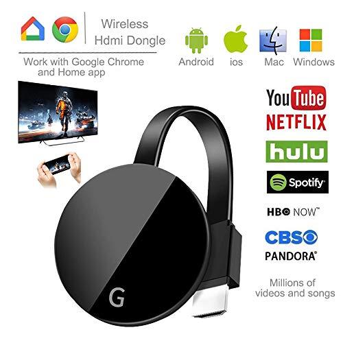 CCCS Stick De TV Wireless WiFi Display HDMI Pantalla inalámbrica,Admite DLNA, Airplay, Miracast, Ezcast, Airplay Mirror, Chromecast y Otros protocolos de interconexión