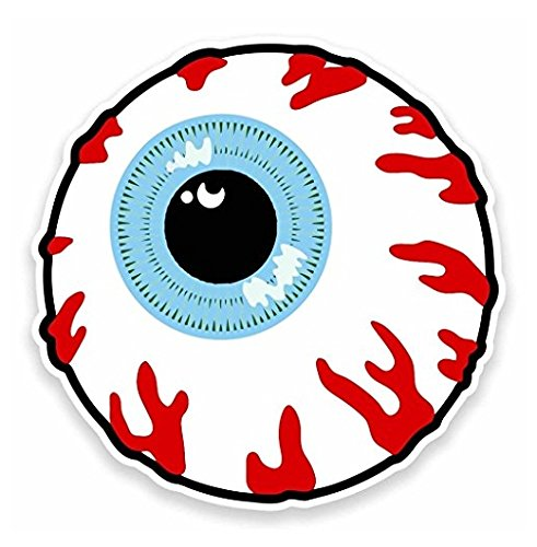 3 Pack - Cartoon Eye Eyeball Vinyl Sticker Decal - Sticker Graphic - Construction Toolbox, Hardhat, Lunchbox, Helmet, Mechanic, Luggage