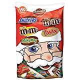 MARS Chocolate SNICKERS, M&M'S, TWIX & MILKY WAY Christmas Candy Minis & Fun Size Variety Mix 55.2-Ounce Bag 150 Pieces