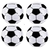 """Set of 6 Inflatable Soccer Balls (16"""") / Party/Decor/Pool/Birthday/Favor"""