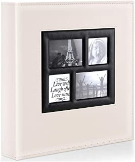 Ywlake Photo Album 4x6 500 Pockets Photos, Extra Large Capacity Family Wedding Picture Albums Holds 500 Horizontal and Vertical Photos Beige