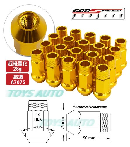 20PC 12X1.25MM 60MM EXTENDED FORGED ALUMINUM TUNER RACING LUG NUT ORANGE