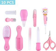 Kilison Baby Nursery Care Kit, 10-Piece Baby Healthcare and Grooming Kit, Nail Clipper, Nail File, Nasal Aspirator, Nasal Tweezers, LED Light Ear-Pick, Medicine Dispenser, Comb, Brush and More