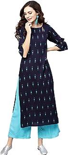 LIBAS Women Kurti with Palazzo Set | Ladies Top Kurta Kameez Salwar Suit Bottom Pant | Ethnic Indian Pakistani Party Dress...