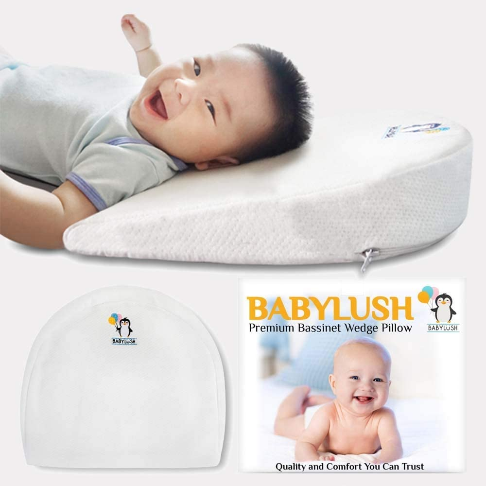 Babylush Infant Baby Wedge Pillow- Crib Wedge for Baby Colic