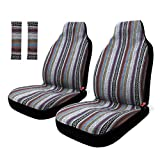 Copap 4pc Universal Stripe Colorful Baja Front Seat Cover Baja Bucket...