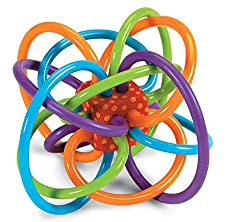 Winkel Rattle Natural Baby Toy and Teether