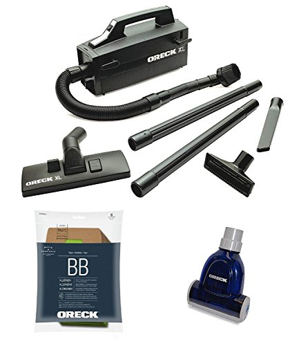 Oreck BB880-AD Super-Deluxe Compact Canister Vac Bundle -Handheld & Portable Dust & Pet Hair Vacuum Cleaner & Blower - Multi Surface Sweeper for Home