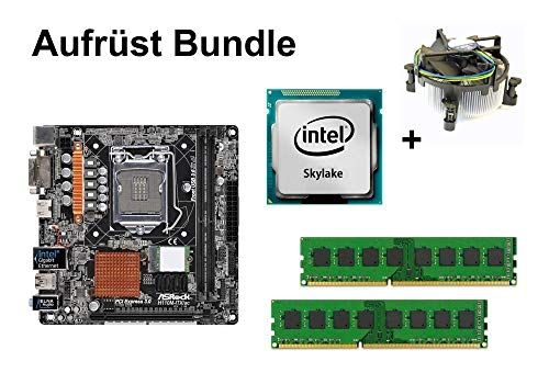 Aufrüst Bundle - ASRock H110M-ITX/ac + Intel Core i5-6500 + 4GB RAM #108708