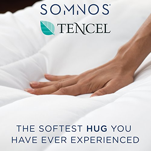 SOMNOS Organic Weighted Comforter with Advanced Air-Circulating Design - Washable, Organic, Weighted Comforter with Fine Glass Beads (Queen, 20 lbs)