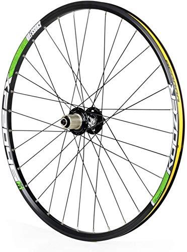 ZHTY Rueda Trasera de Bicicleta 26/27,5 Pulgadas, Doble Pared Racing MTB Rim Freno de Disco QR 32H 8 9 10 11 velocidades Ruedas Delanteras y traseras de Bicicleta
