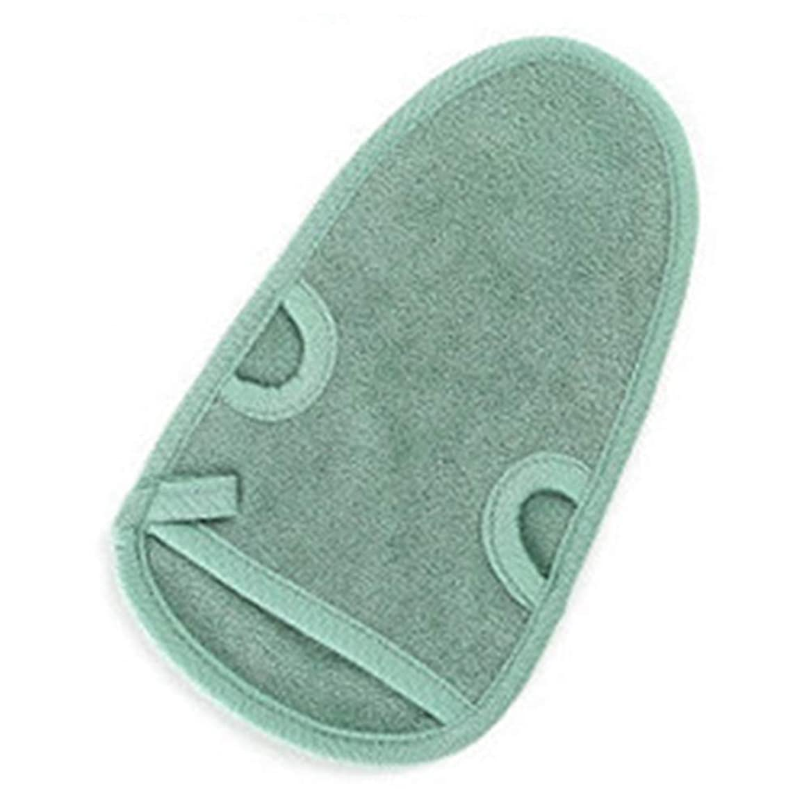 カートリッジ外科医エーカー手袋スクラブミットボディディープ剥離ミトンデッドスキンスクラブシャワー剥離バスユニセックス(グリーン)