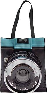 Tupalatus Canvas Bag Handbag Shopping Bag Reusable Grocery Bag Animal Print for Women Girls OneSize Camera-2