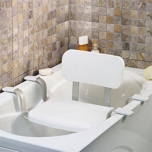 TW24 Wannensitz - Duschstuhl - Badewannenstuhl - Duschhocker mit Rückenlehne - Badsitze mit Modellauswahl (Badewannensitz mit Rückenlehne)