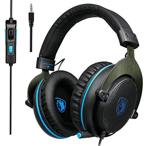 SZKQN Headphones, PS4 gaming hoofdtelefoon, ruisonderdrukkende microfoons, betere geluidseffecten geven u een andere game-ervaring