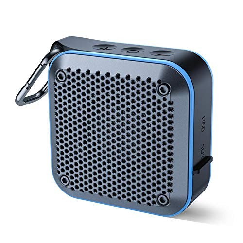 Portable Waterproof Bluetooth Speaker with FM Radio, IPX7 Waterproof Speaker Bluetooth Wireless...