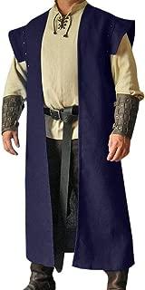 Mens Adult Costume Jacket Open Front Japanese Samurai Kimono Cloak Jinbaori Edo Period Cosplay Outfit Robe SCA LARP
