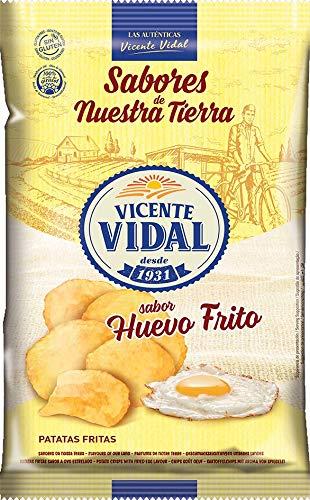 Patatas Fritas Vicente Vidal. Sabor Huevo Frito. Caja de 9 unidades x 135g