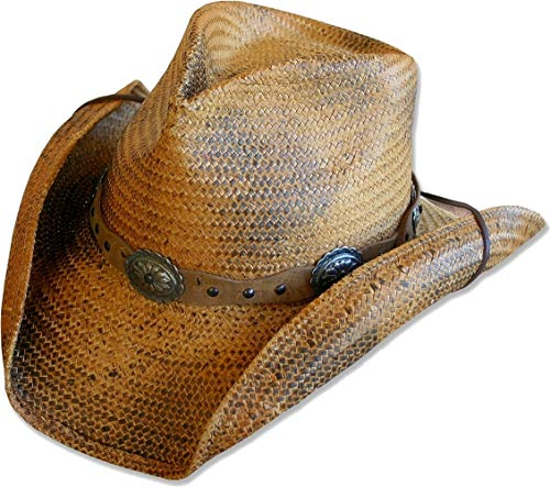 STARS & STRIPES STARS & STRIPES Strohhut Westernhut Cowboyhut »RED Rock« Gr.S